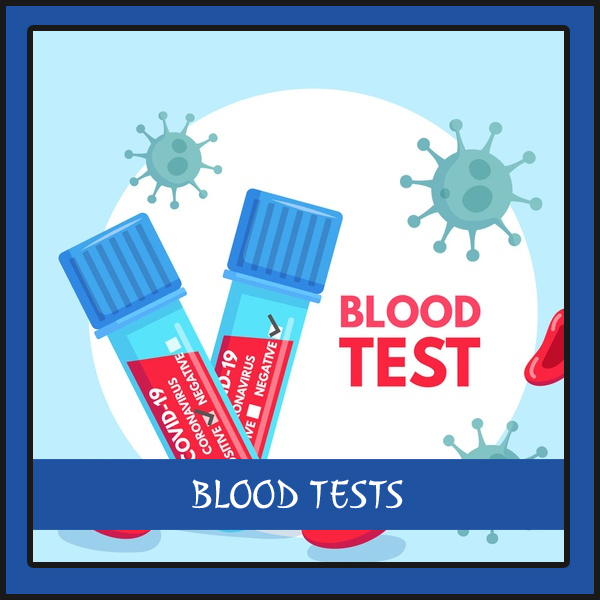 request blood test results button
