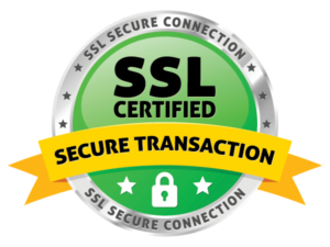 secured with an ssl cert for encyption