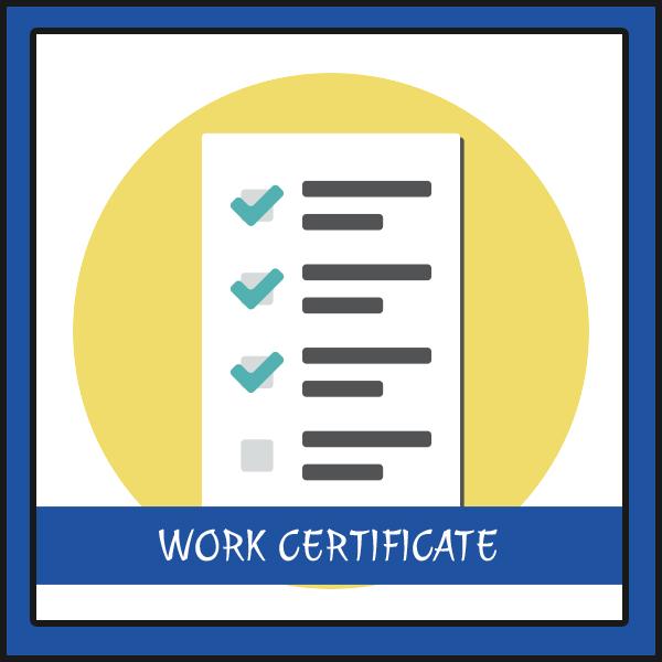 request a work certificate